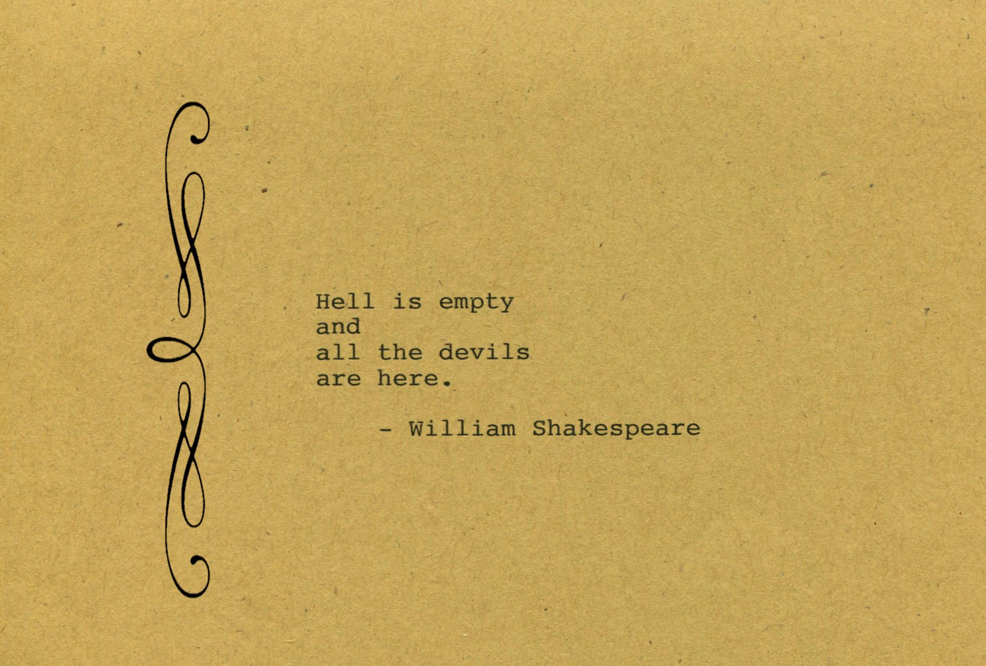 William Shakespeare Quote Made on Typewriter Art Quote Wall Art ...