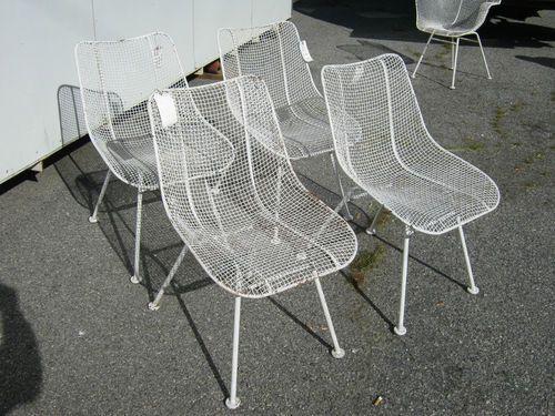 Exceptionnel 4 Classic Vintage 50u0027s Mid Century Mod Woodard Sculptura Wire Chairs Eames  Era