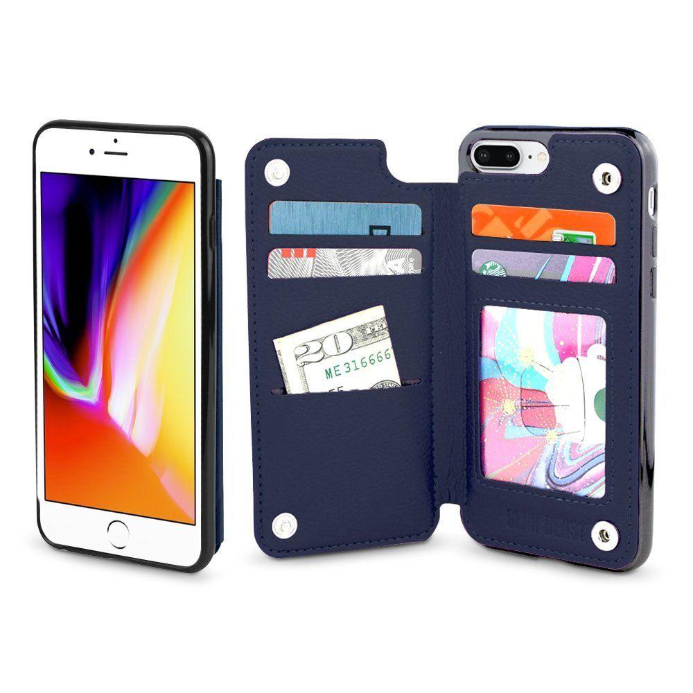 Gear beast iphone 8 plus 7 plus wallet case top view