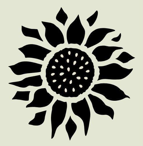 """pumpkin template flower  Details about 5"""" SUNFLOWER STENCIL FLOWER PATTERN PAINT ..."""