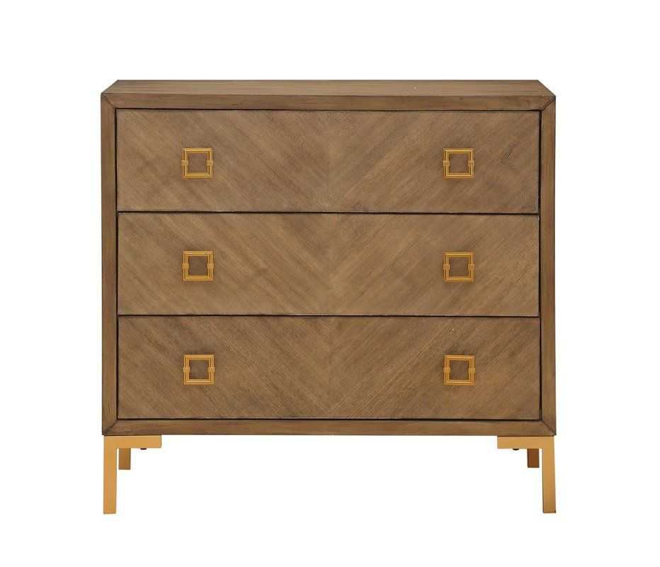 Daina 3 Drawer Chest in 2019 Chest of drawers, 3 drawer