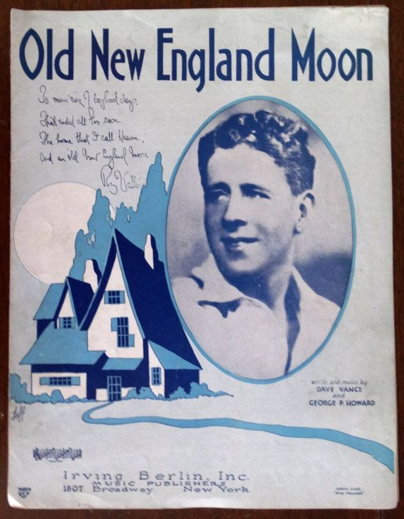 Old New England Moon vintage 1930 piano sheet by KingsMusicNBooks