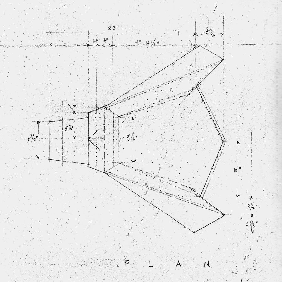 Wright Chat View Topic 1949 Taliesin Origami Chair Dimensions Sketches Drawing Origami Chair Frank Lloyd Wright Furniture Wright Furniture Plans