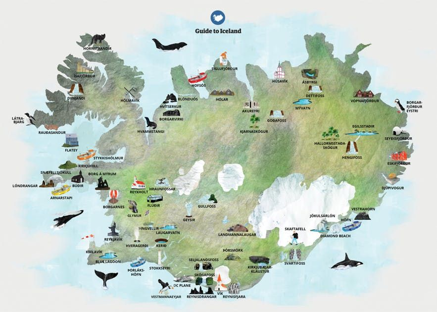 Maps Of Iceland Guide To Iceland Iceland Tourist Map