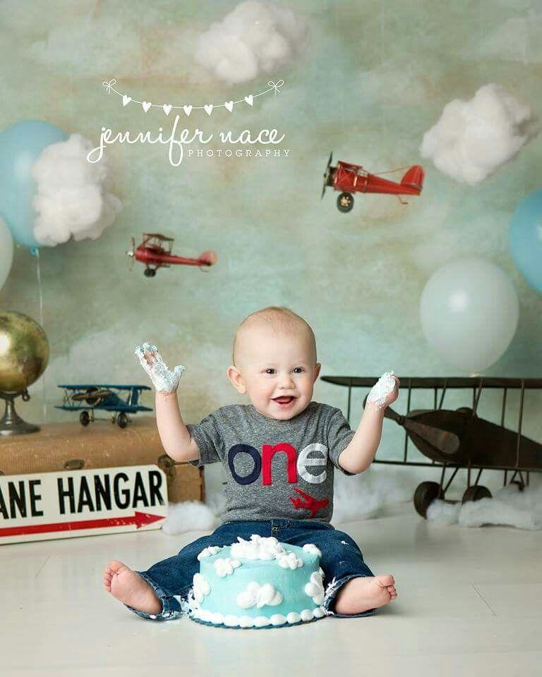 Airplanes cake smash Planes birthday, 1st boy birthday