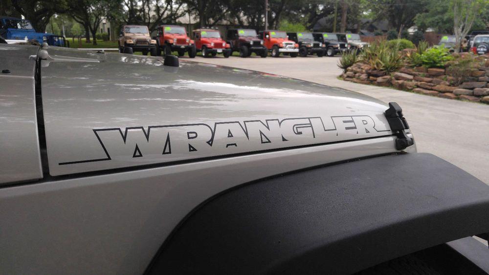 2pcs New Wrangler Hood Side Decal Graphic Jeep Rubicon Sahara