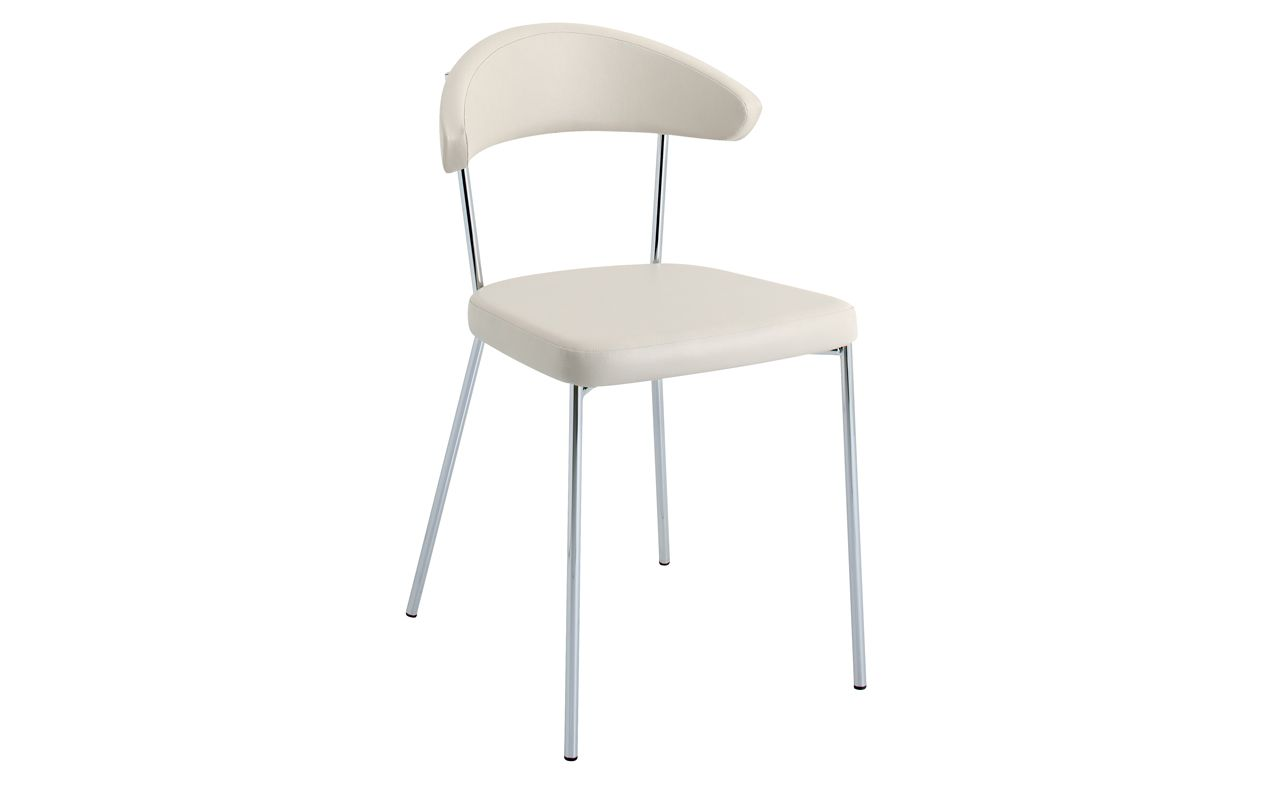 Halona Dining Slender Tubular Chrome Chair By Schmidt Seat In Vinyl In 9 Colours Dimensions L 48 H Kitchen Chairs Design Your Kitchen Bathroom Units