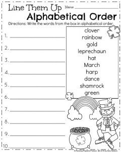 march first grade worksheets alphabetical order summer worksheets first grade worksheets first grade