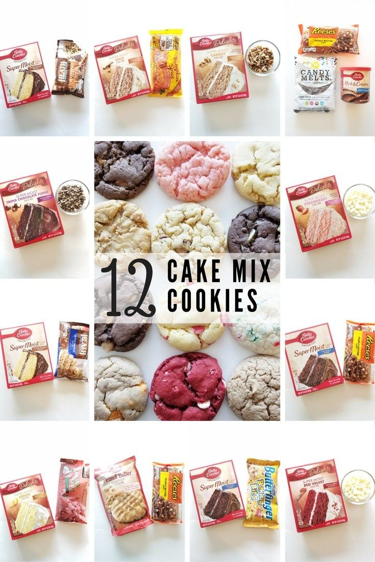 12 Cake Mix Cookie Recipes - A Cotton Kandi Life