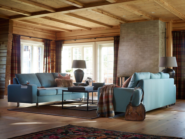 Sofa modern stoff  Stressless Sofa E200 als 3-Sitzer in der Ausführung Stoff Calido ...