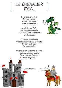 La Poésie Au Moyen Age : poésie, moyen, J'ETAIS:, MOYEN, CHEVALIERS, Moyen, Maternelle,, Chateau, Activité, Manuelle