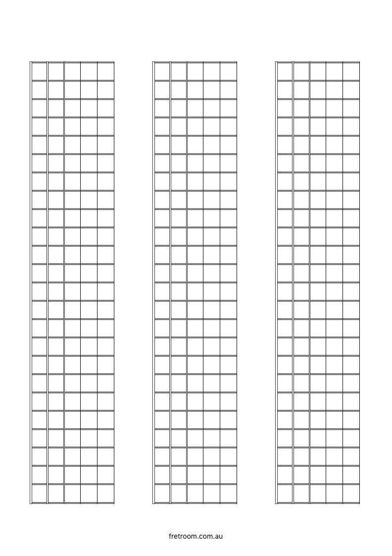 blank neck diagram 03 x 24 blank fretboard 3 blocks. Black Bedroom Furniture Sets. Home Design Ideas