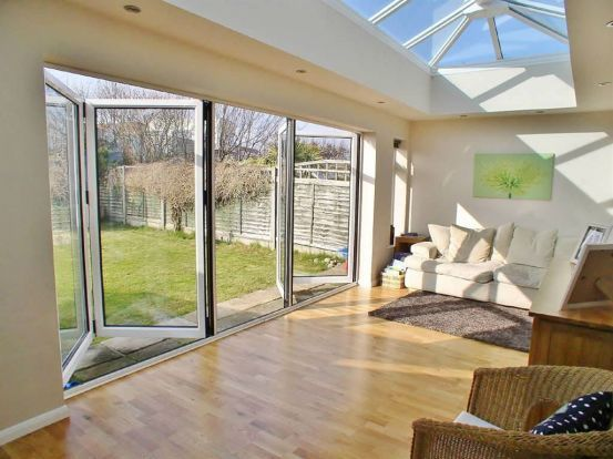 bifold doors and glass roof | Dream House Love | Bungalows