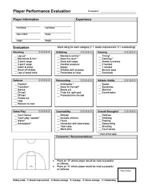 player evaluation form basketball  basketball player evaluation form ... | Basketball practice ...