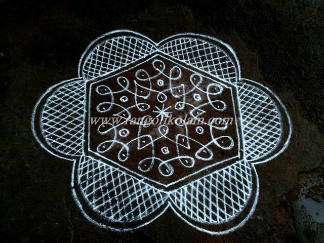 Its Simple White Doted Kolam 7 4 In Between Dots