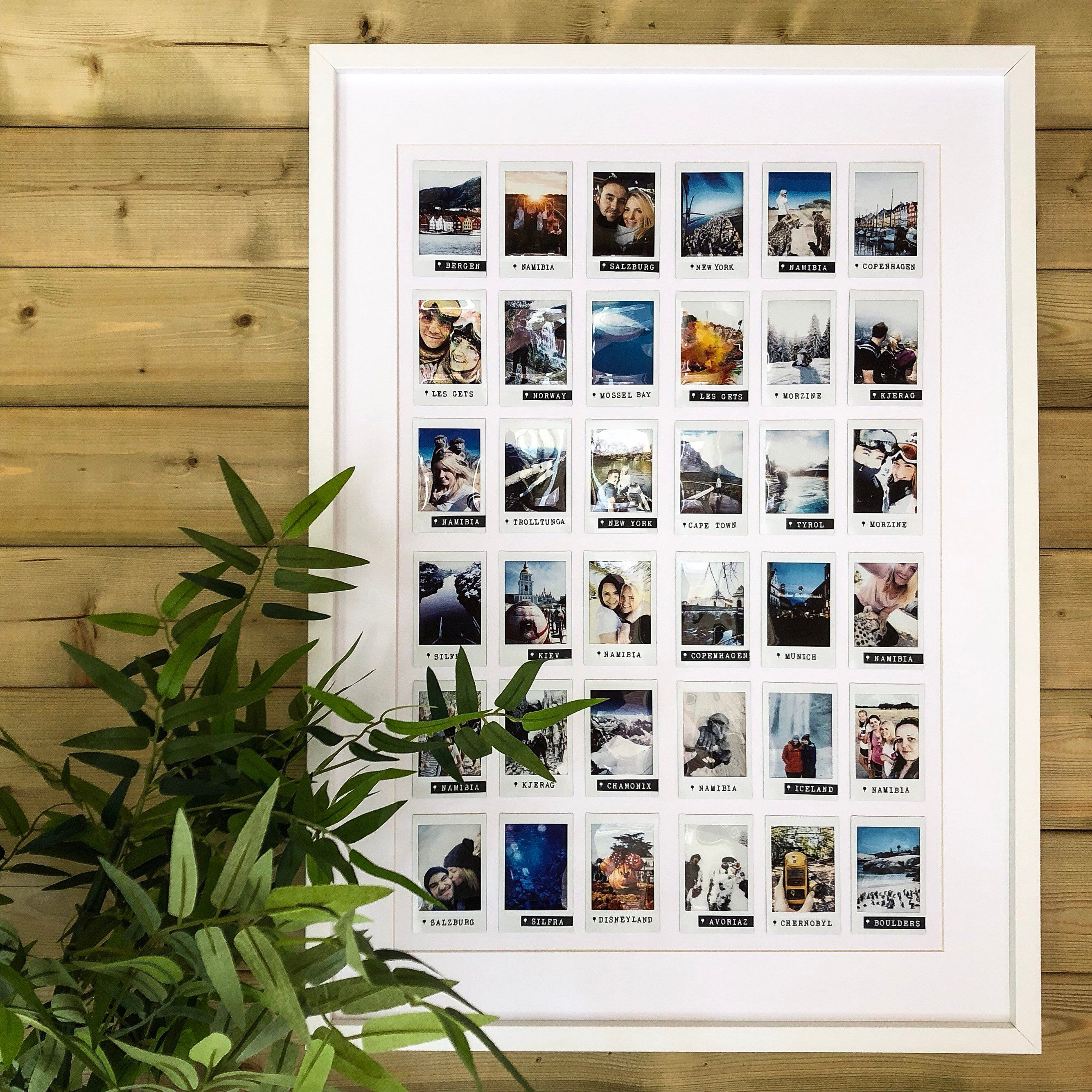 Extra Large Custom 70x50 Personalised Polaroid Frame Your Chosen Photos Text In 2020 Polaroid Frame Polaroid Picture Frame Postcard Display