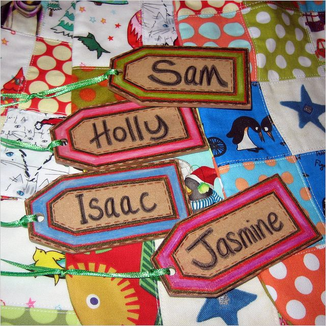personalised option ~ decorated wooden tags for the ...