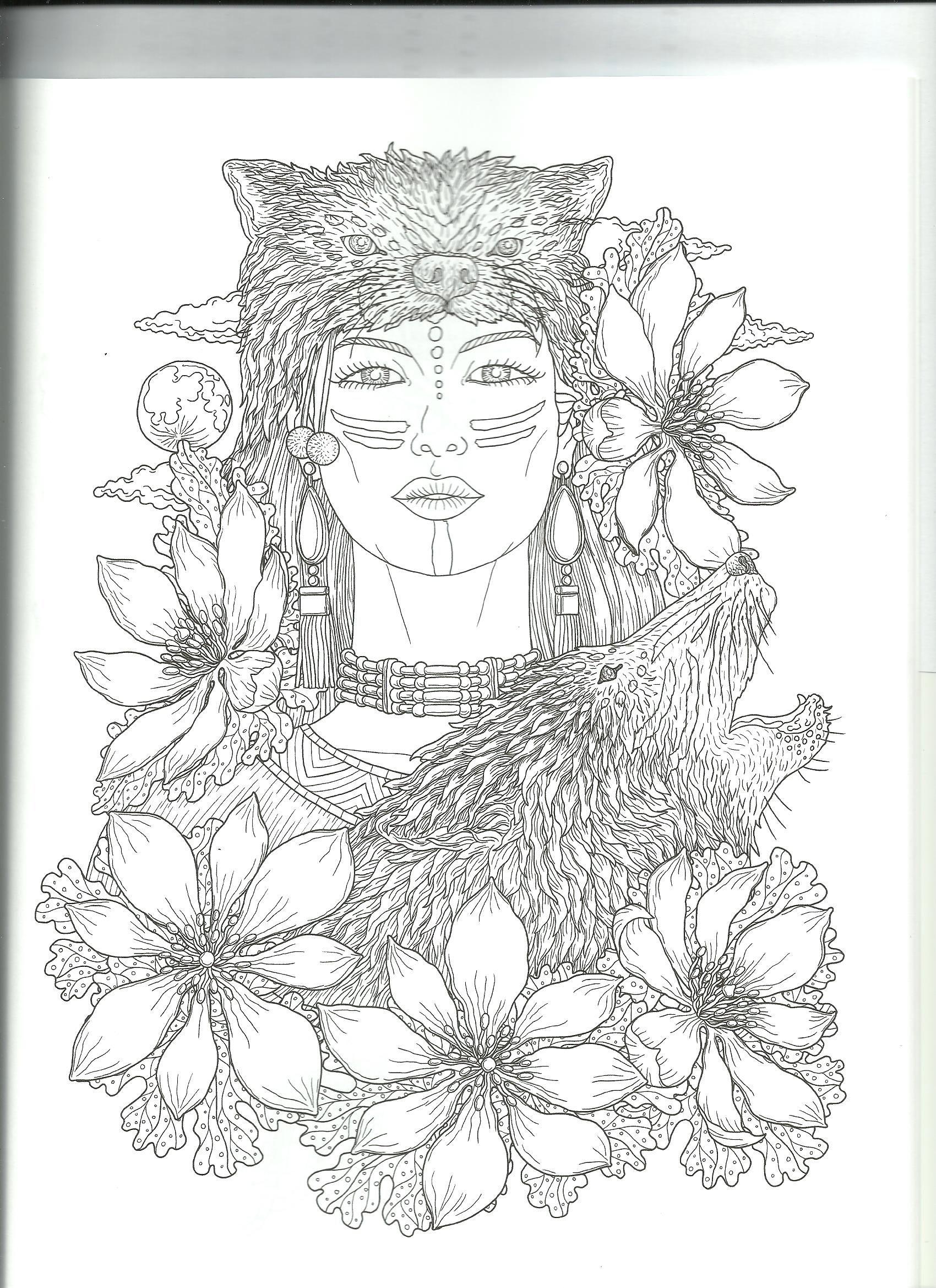 Pin Van Karla Davis Op Color Cultural Women Kleurplaten