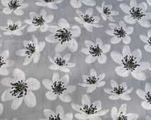 Anemone Cotton Fabric By The Yard Scandinavian Design For Curtains Roman Blinds