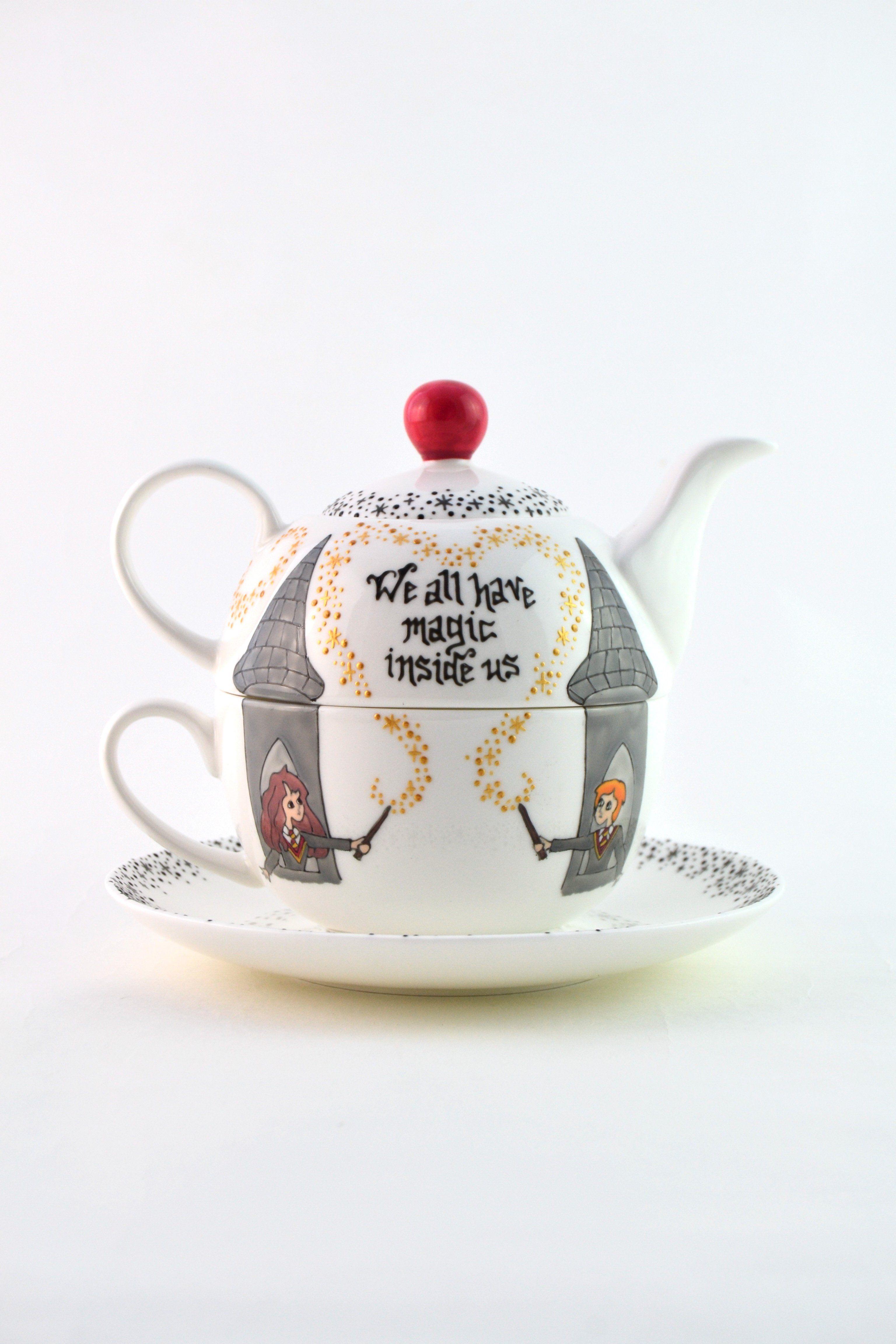 Harry potter tea set for one in 2020 harry potter decor