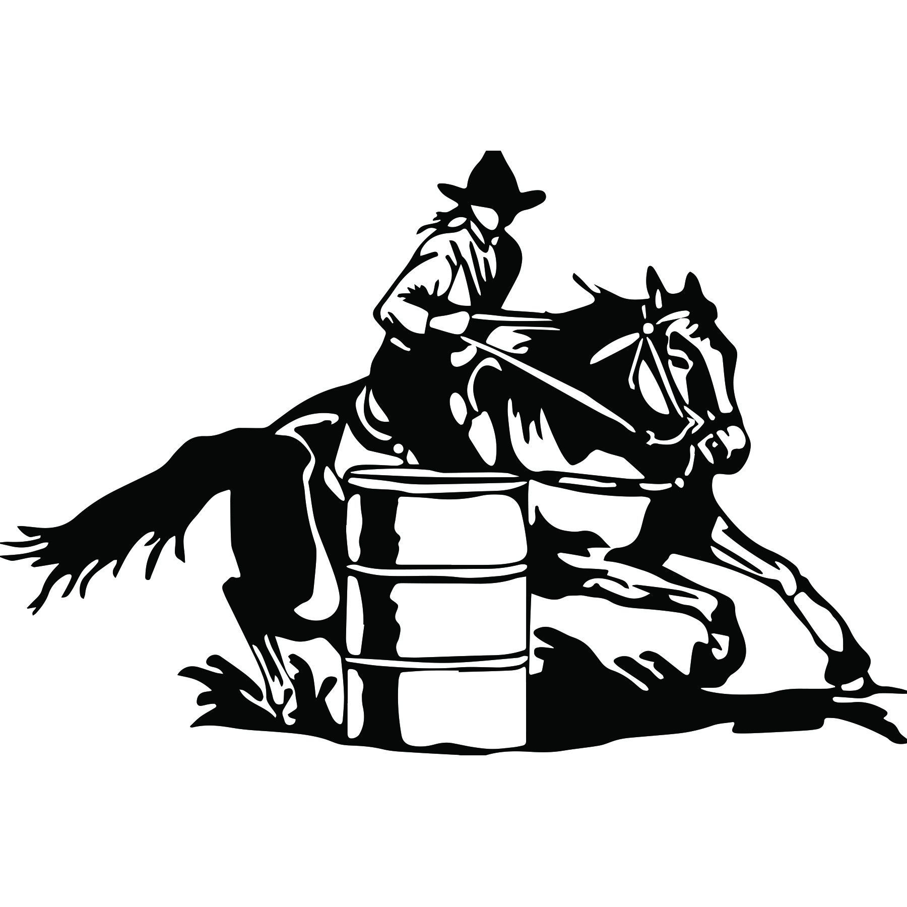 Rodeo Team Roping Silhouette Decal 8n X 3 Rodeo Pic T