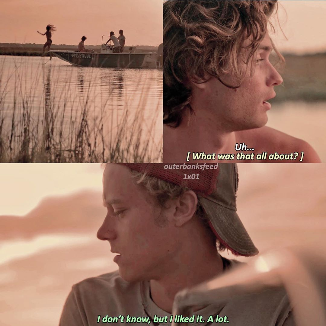 Outer Banks On Instagram 1x01 Pilot Jj Owns My Heart Please Don T Repost Q N A A N A Tags Outerbanks Outerba Outer Banks The Pogues Outer