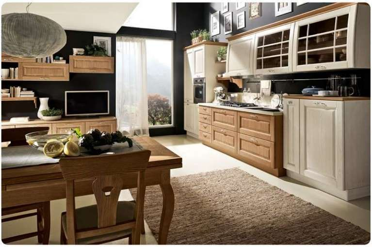 Cucine bicolore cucina classica cucine legno e foto - Arredamento cucina classica ...