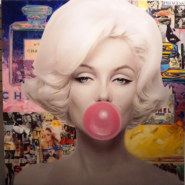 Titled: Marilyn Monroe Bubble Gum With Chanel,Medium: Silkscreen On Canvas With…
