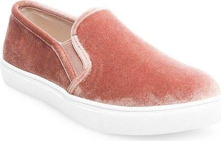 65f1550a900 Steve Madden Women s Ecntrcv Slip-On Sneaker Blush Velvet Size 6.5 M ...