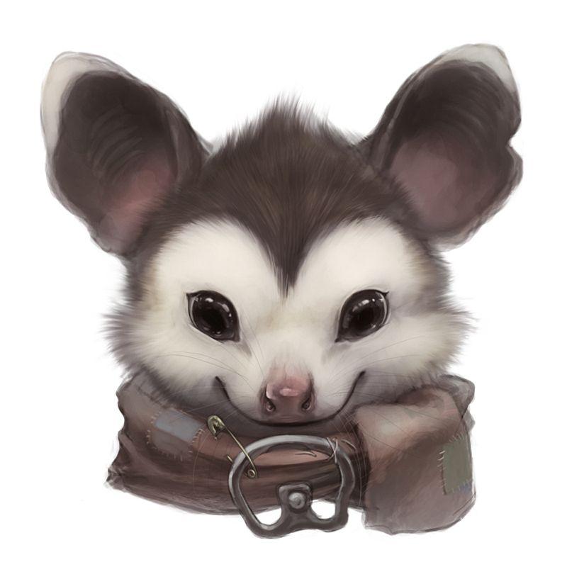 Opossum portrait by Silverfox5213 on DeviantArt