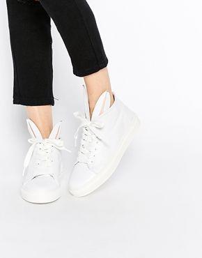 BUNNY SNEAKS HIGH TOP SNEAKERS WITH BUNNY EARS - CALZADO - Sneakers abotinadas Minna Parikka Cxqyp24
