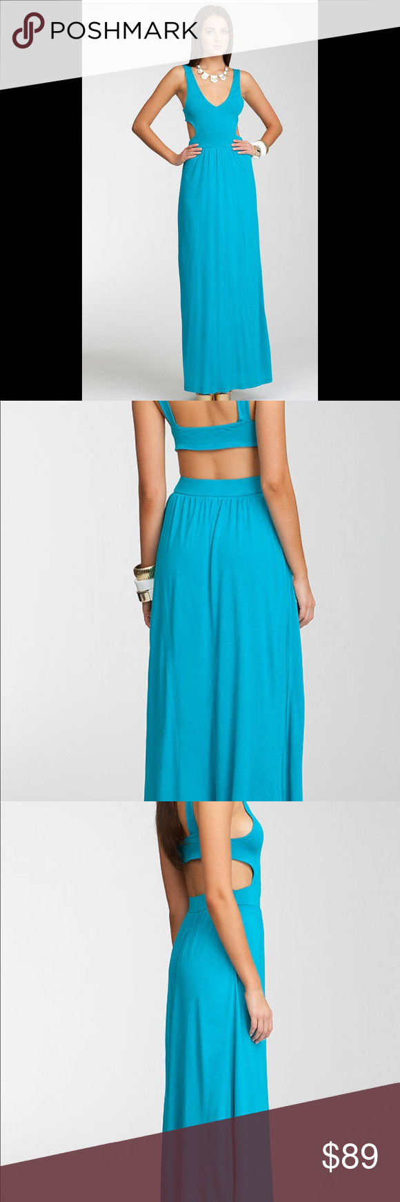 Nwt Bebe Blue Cutout Maci Dress With Back And Side Cutouts Lengthy Drape And Standout Color This Bebe Maxi Dres Cutout Maxi Dress Bebe Maxi Dress Bebe Dresses [ 1740 x 580 Pixel ]