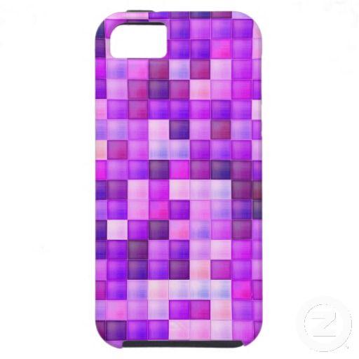 Pink Bathroom Tile Squares pattern iPhone 5 Case #Pink #Tile #Squares #iPhone5 #Cases