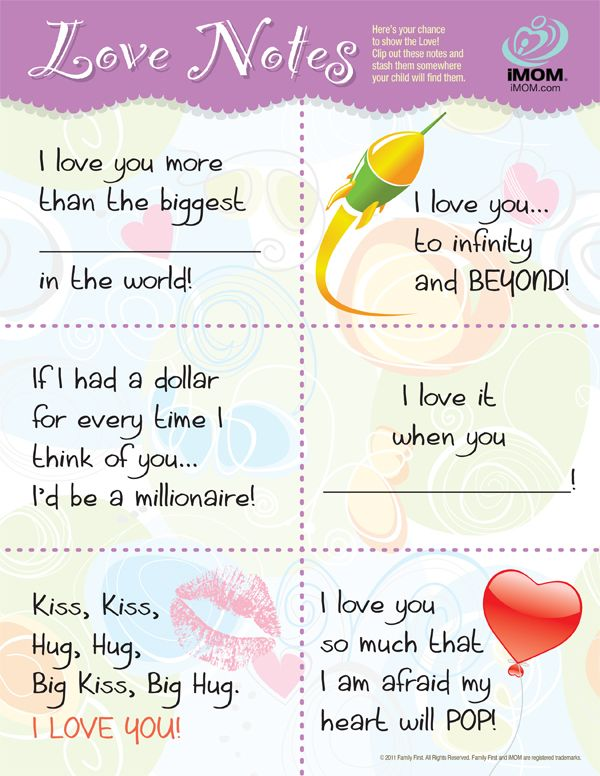 be9d2f7048fe Love Notes | Kiddo's Positive Parenting | Lunch box notes, Love ...