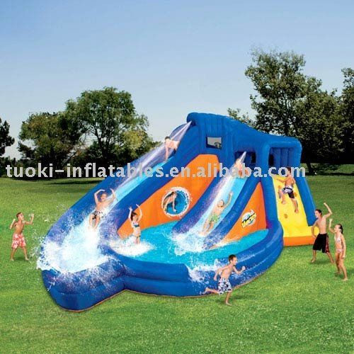 inflatable water slide for kids and adults yard inflatable water rh pinterest com outdoor water slides for adults