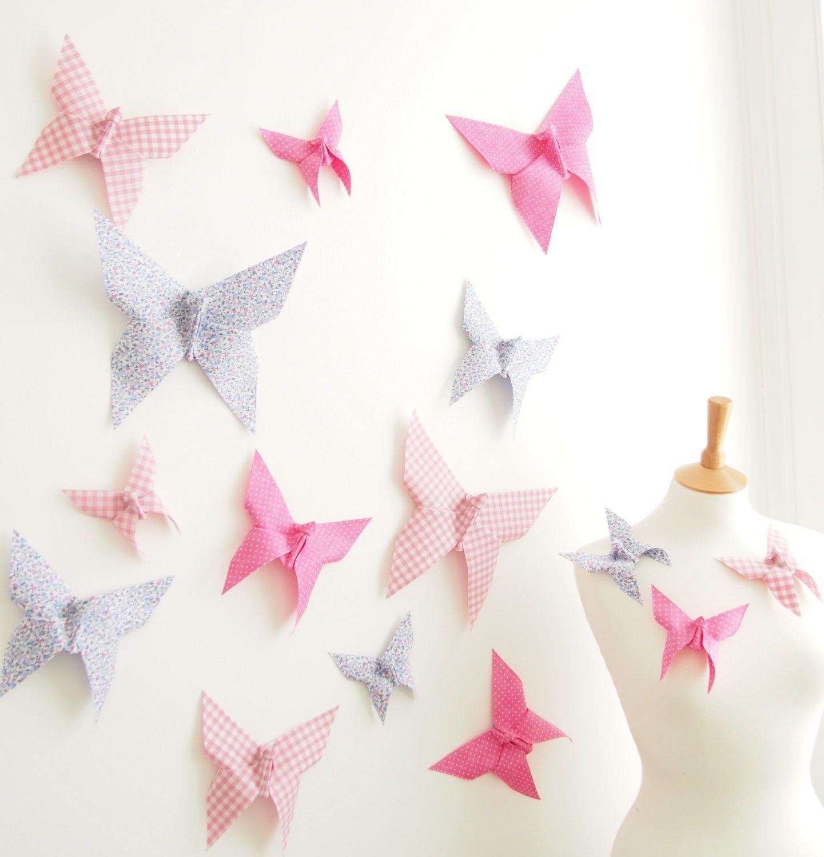 3d Butterfly Wall Decor 3d Butterfly Wall Art Origami Butterflies Wedding Nursery