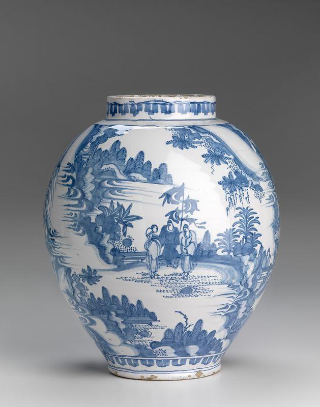 The Netherlands, Holland, Delft (manufacturer), Jar 1660–80, earthenware, National Gallery of Victoria, Melbourne. Felton Bequest, 1939