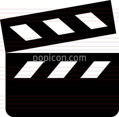 Movie Clapper Vector Icon Popicon Vector Icons Radio Icon Icon