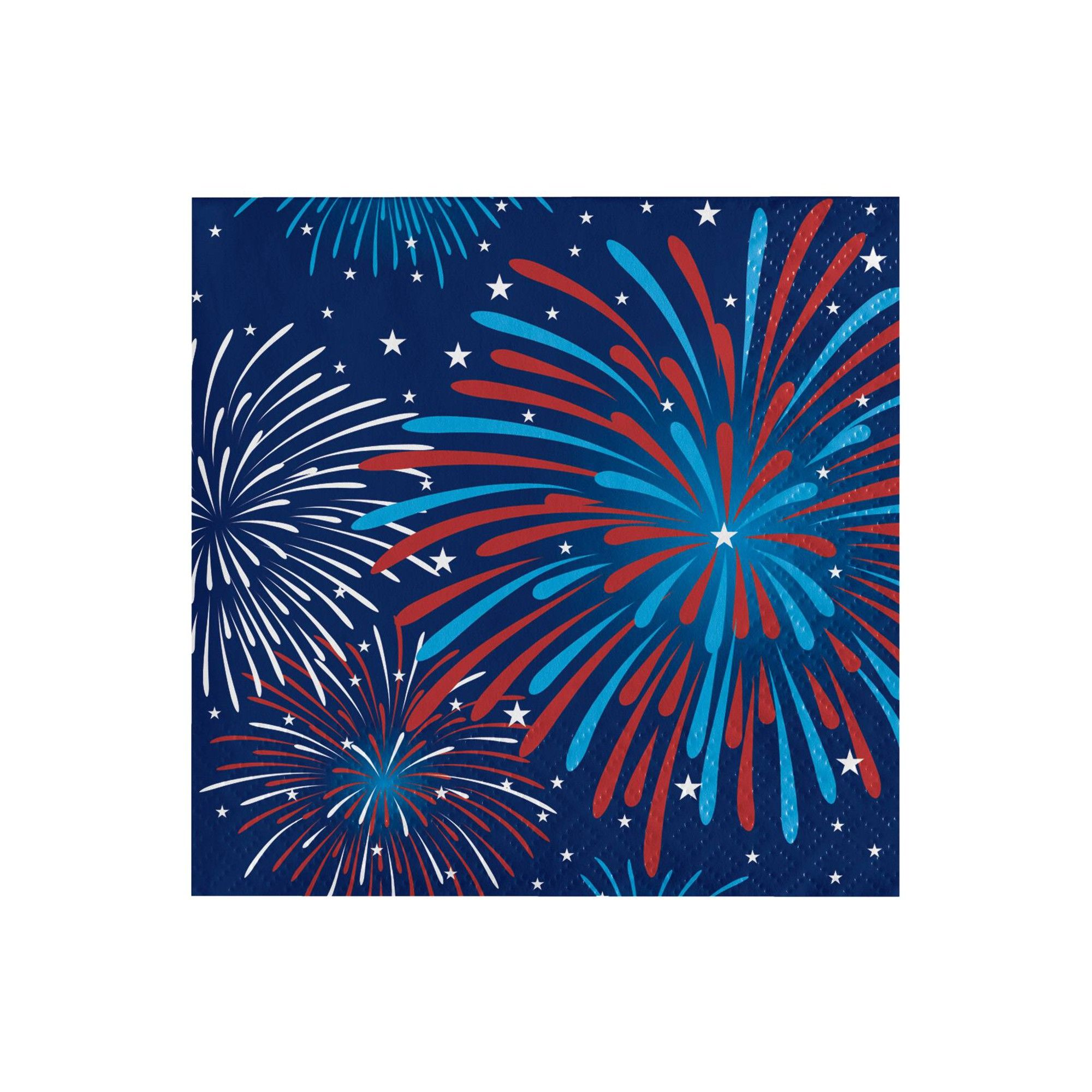 48 ct Fireworks Celebration Beverage Napkins