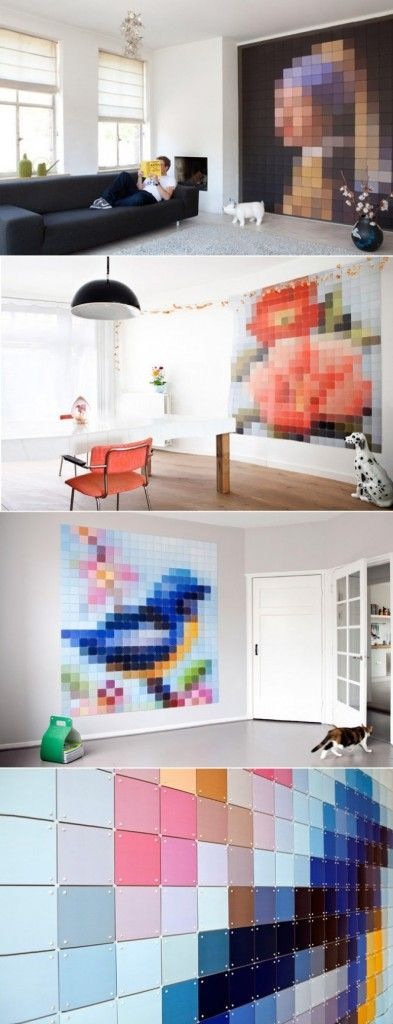 Pixel design inspiration in furniture decor wall art