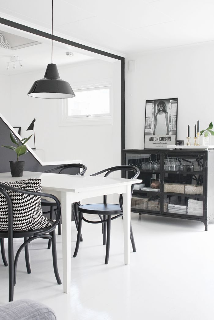 Dining Area Stylizimo Living Room Scandinavian Style Black And White