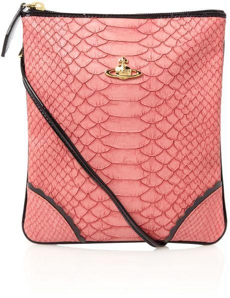 e659a6411e2e VIVIENNE WESTWOOD Pink Frilly Snake Crossbody - Lyst | Handbags ...