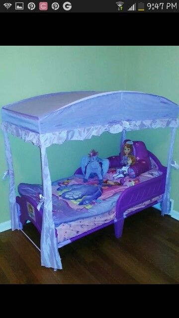 Sofia The First Toddler Bed From And Canopy Also Com