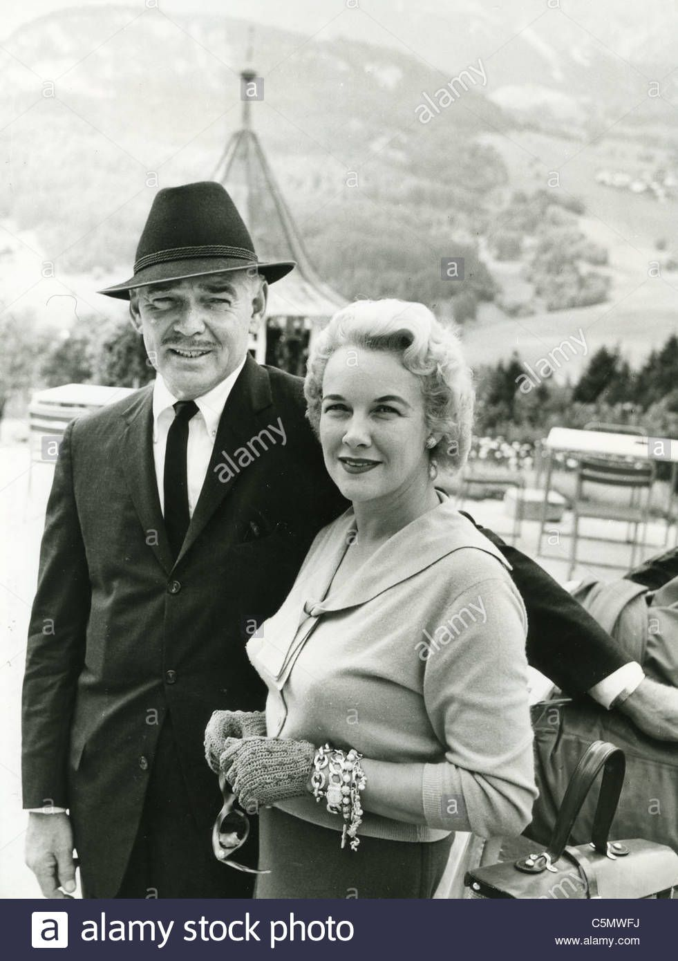 Clark Gable With Second Wife Kay In Italy In 1958 While He Was Stock ...