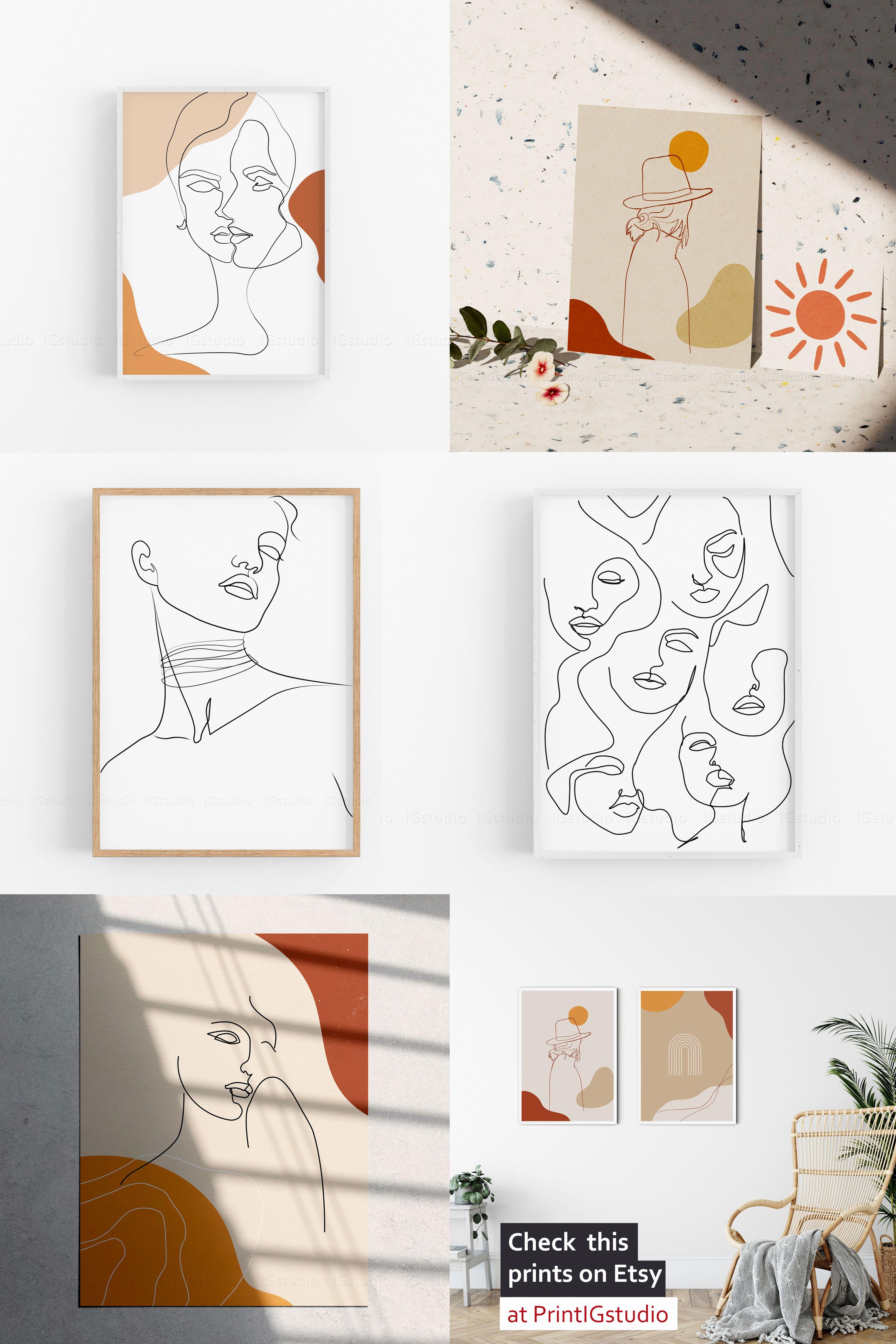 Printable Wall Art Wall Decor Home Decor Line Art Print For