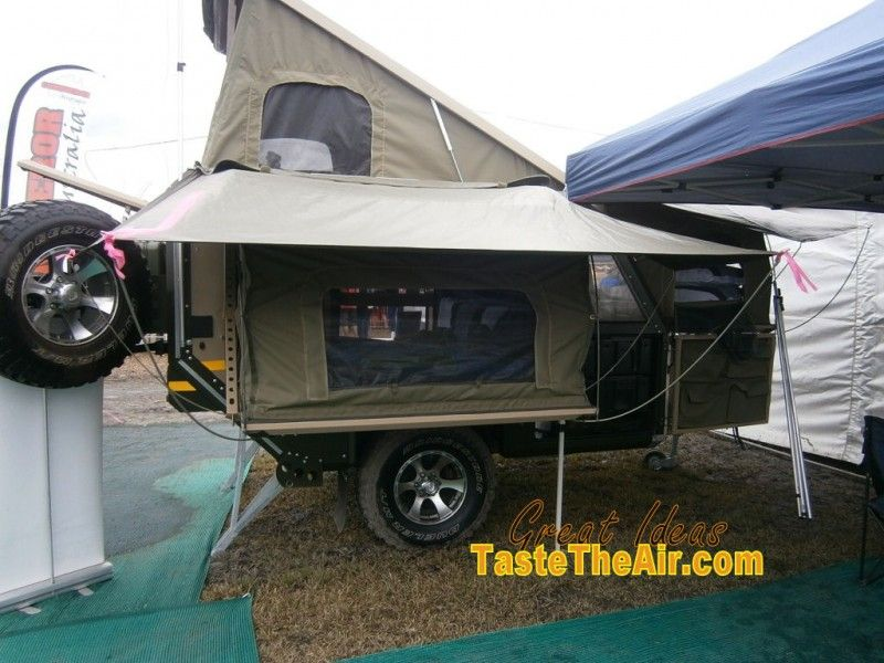 This Is The All Weather Side Of Smaller Version Rugged Camper Trailer
