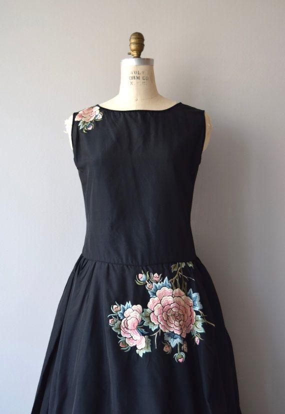 Basque Robe de Style dress   vintage 1920s dress   floral 20s dress ...