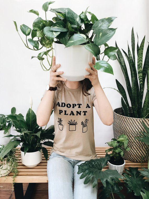 Adopt A Plant Typographic And Illusrated Succulents Tee Plant