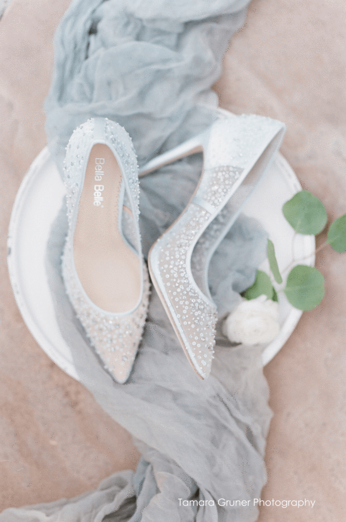 Something Blue Sequin Crystal Wedding Evening Shoes In 2020