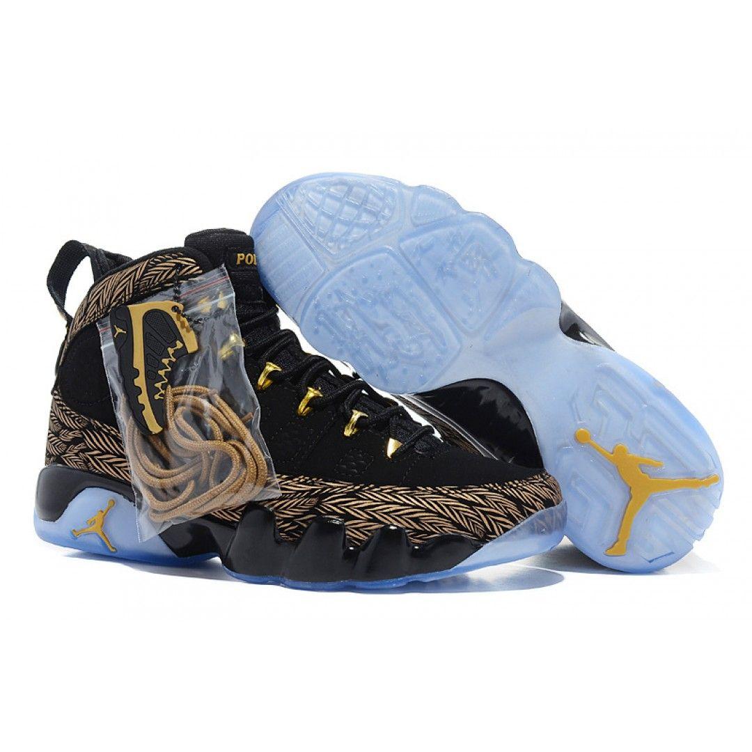 Air Jordan 9 Black Gold , Price: $73.95 - Air Jordan Shoes ...